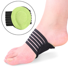 1Pair New Fashion Foot Massage Protector Mat Elastic Soft Cushioned Sup