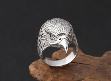 925 sterling silver eagle Ring  925 jewelry men women Rotatable wedding Ring Gift hongclub 2017 new s990 sterling silver ring men jewelry magpie flower wedding brand ring women gift fine jewelry wholesale r18