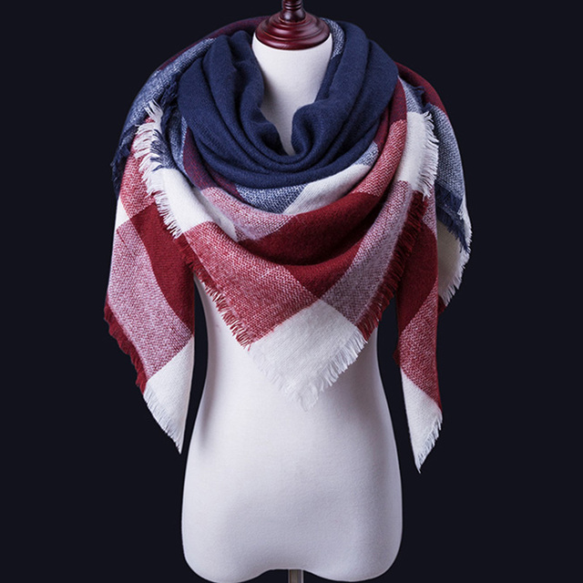 Women Winter cashmere and Shawl Blanket Scarf 1