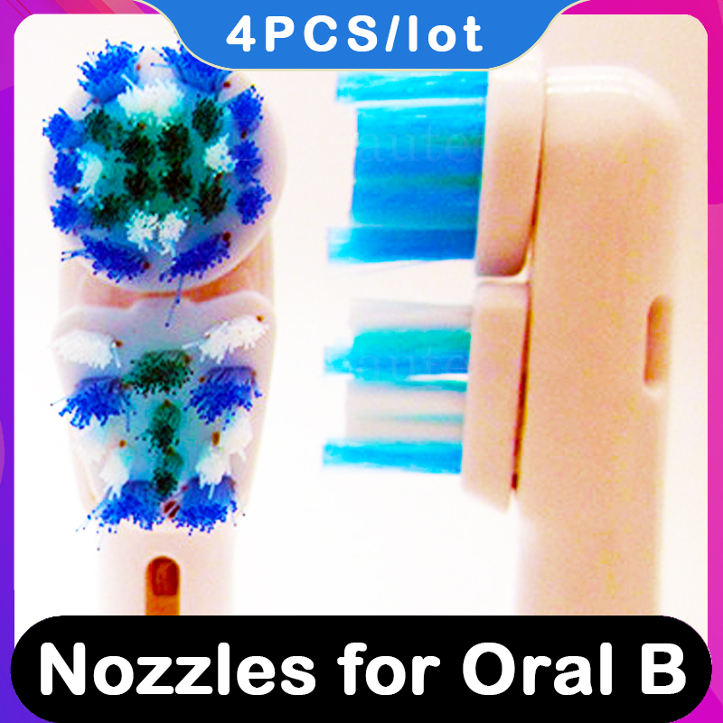 Nozzles For Oral-B Replaceable Toothbruh Heads For Braun Oral B Bi OralB Electric Brown Vitality Pro 500 Attachments Replacement