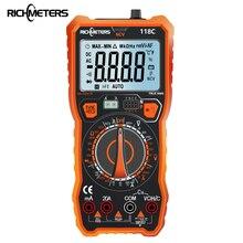Цифровой мультиметр RICHMETERS 118C, 6000 отсчетов, 20A NCV HFE True RMS 100mF, емкость, магнит, переменный/постоянный ток, напряжение, температура тока