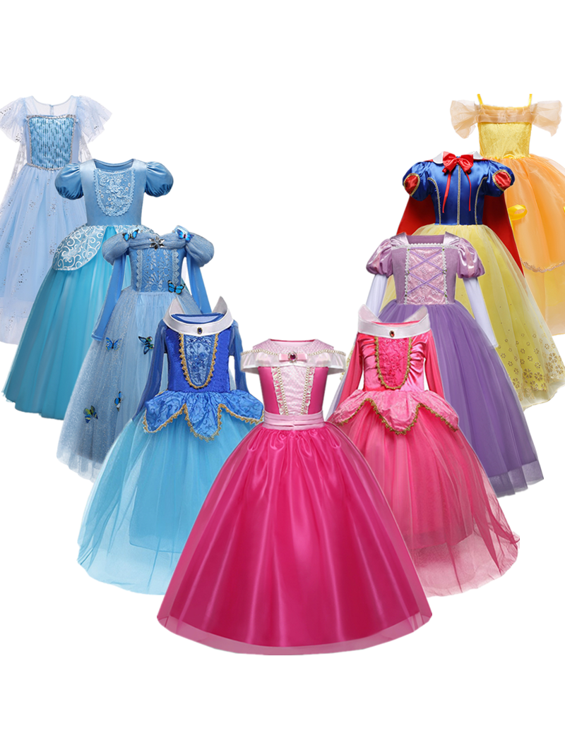 Clothing Robe Fancy Dress Halloween-Costume Fille Birthday-Party Girls Kids Children