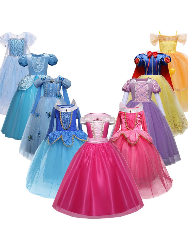 Clothing Robe Fancy Dress Halloween-Costume Vestidos Birthday-Party Girls Kids Children
