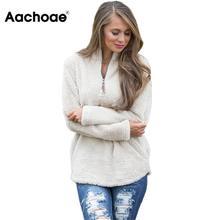 Aachoae Autumn Winter Women Hoodies Sweatshirts