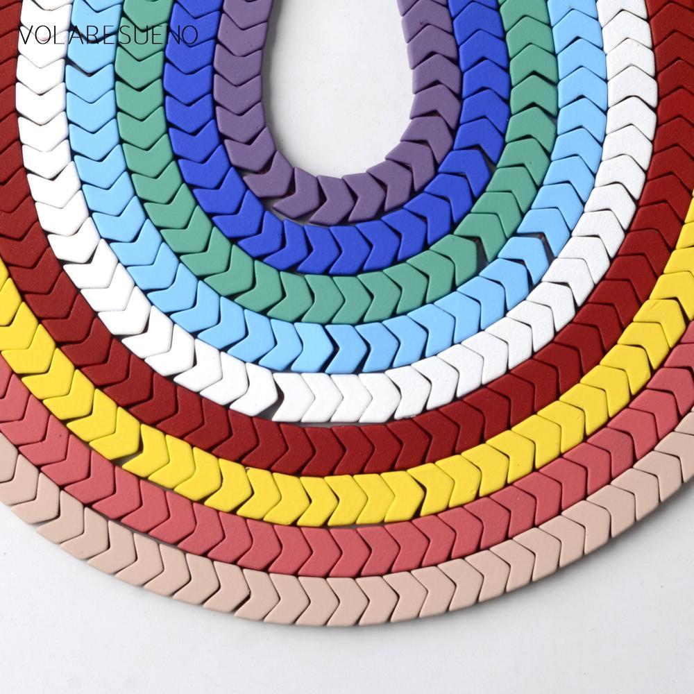 1Strand 6x4x2mm Rainbow Hematite Arrow Shape Loose Bead 15.5 inch HGZH24