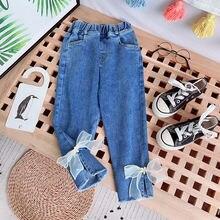 Gooporson/осенние модные джинсы для маленьких девочек; Милая