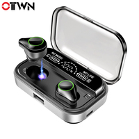 OTTWN New Tws T10 wireless buletooth earphone Super sound quality with LED power display and super waterproof sport earphone