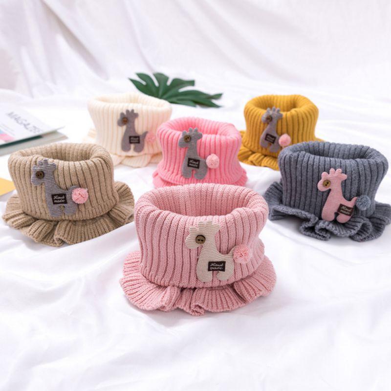 Baby Boys Girls Scarf Winter Warmer Horse Pattern Infant Thicken Collar Scarves For Newborn Toddler Neckerchiefs