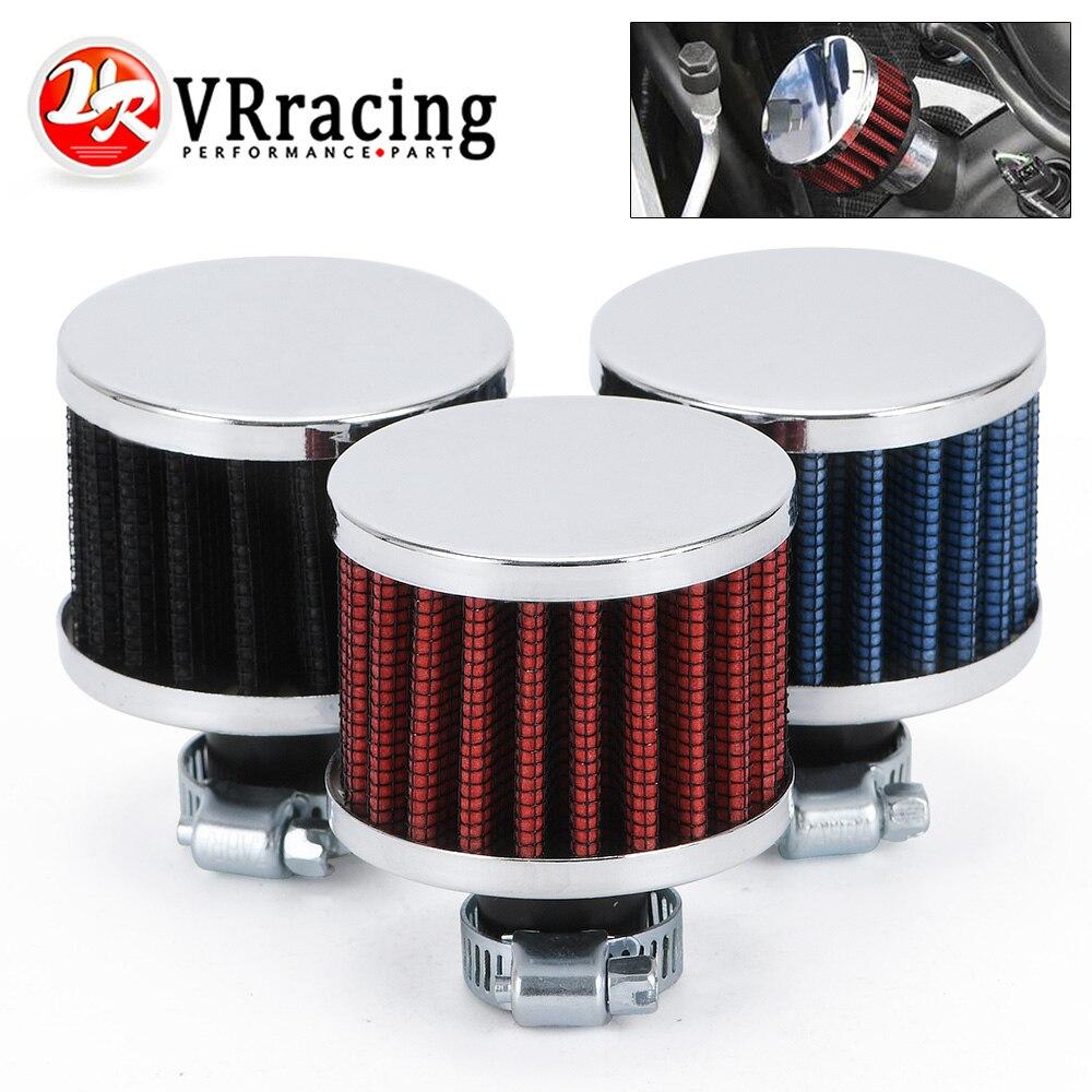 VR RACING-Универсальный интерфейс, воздушные фильтры для мотоциклов, 12 мм, серебристый автомобильный конус, фильтр для холодного воздуха, турбо-...