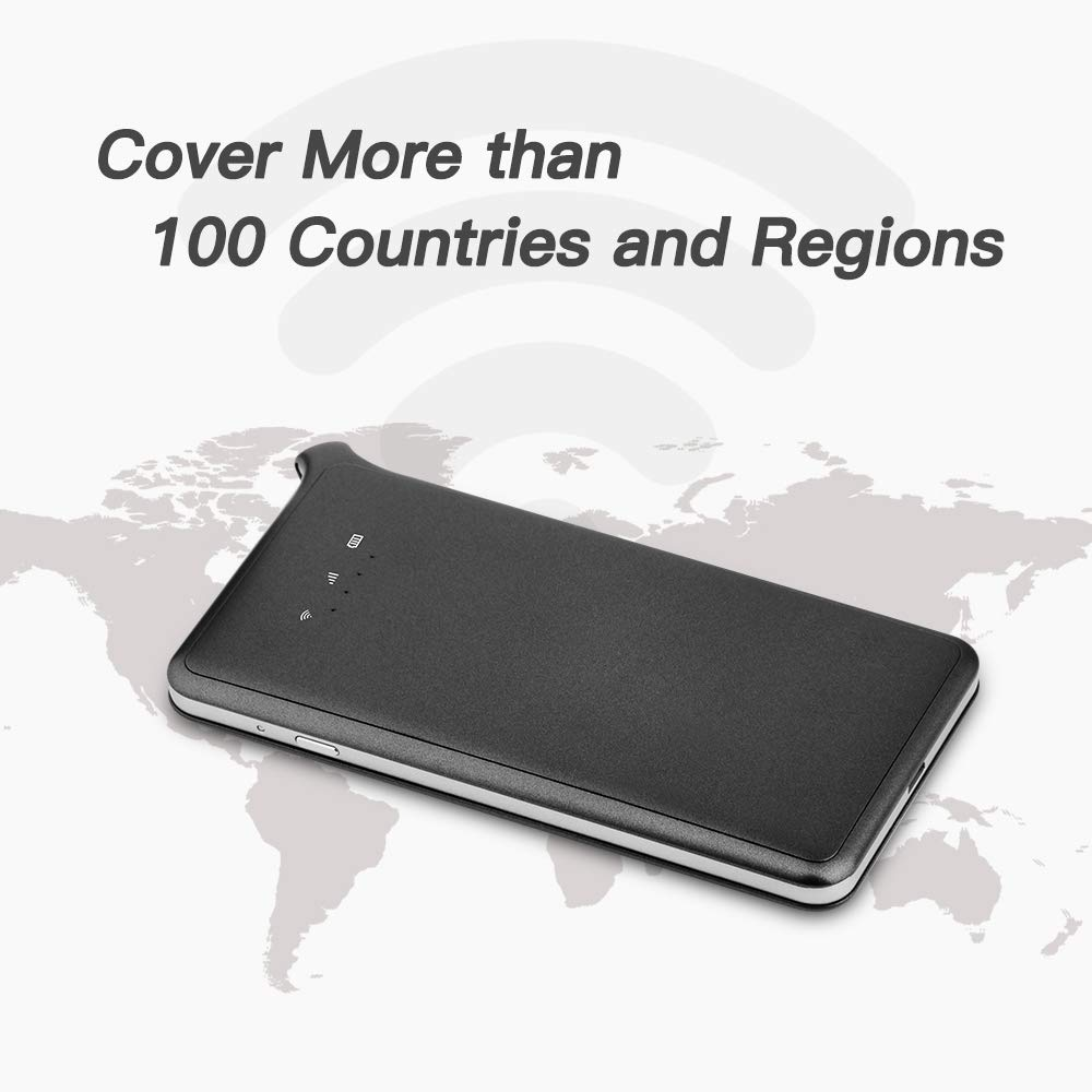 GlocalMe U2S Lite Mobile Hotspot Worldwide High Speed WiFi Hotspot with 1GB Global Initial Data Grey