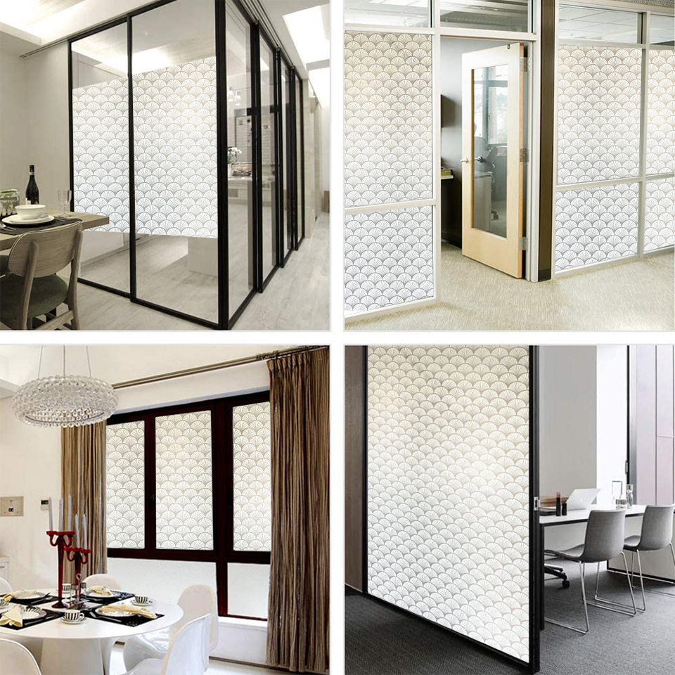 New 3D Matte Window Film Stained Glass Decorative Uv Vinyl Sticker Frosted Self Adhesive Film Privacy Window Decal for Bathroom 6