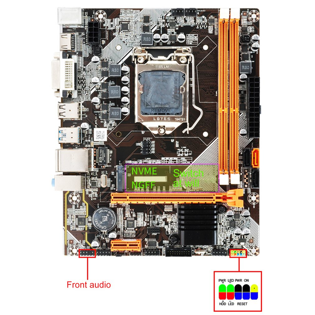 DDR3 1155 Pin Second Generation Third Generation I3 I5 I7 Series Cpu B75/H61 For Motherboard Desktop USB Mainboard