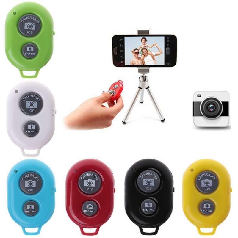Bluetooth obturador remoto Control inalámbrico cámaras herramientas de teléfono para iPhone Android