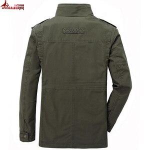 Image 4 - Novo 100% jaquetas de algodão dos homens jaquetas carga militar tático combate negócios masculino casaco piloto bombardeiro jaquetas roupas marca
