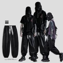Pantalones japoneses Streetwear Doosan Ribbons Streetwear Cargo Pants Hombres