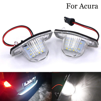 2 PCS 12V Car Led Number License Plate Lights Lamp Exterior Accessories For Acura MDX RL TL TSX ILX Honda Civic Accord City MK4 image