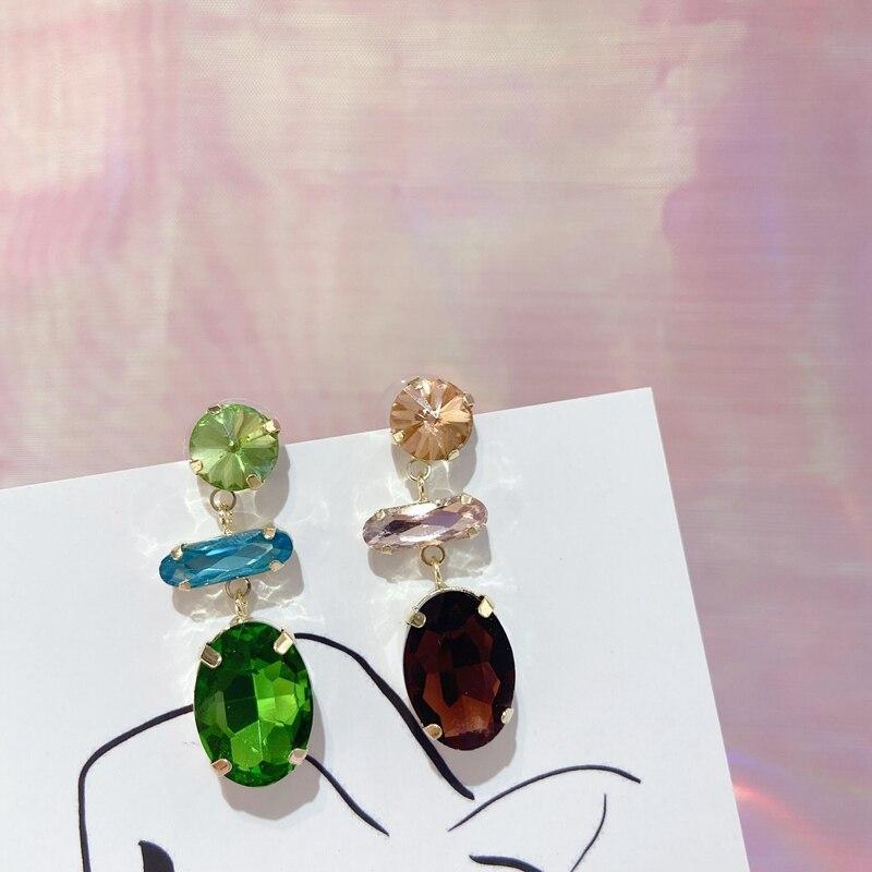 Женские серьги подвески mengjiqiao элегантные вечерние с кристаллами
