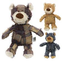 Милый медведь игрушки для домашних собак пищалка Мягкие плюшевые игрушки для собак кошка игрушка с писком для домашних животных игрушка дл...