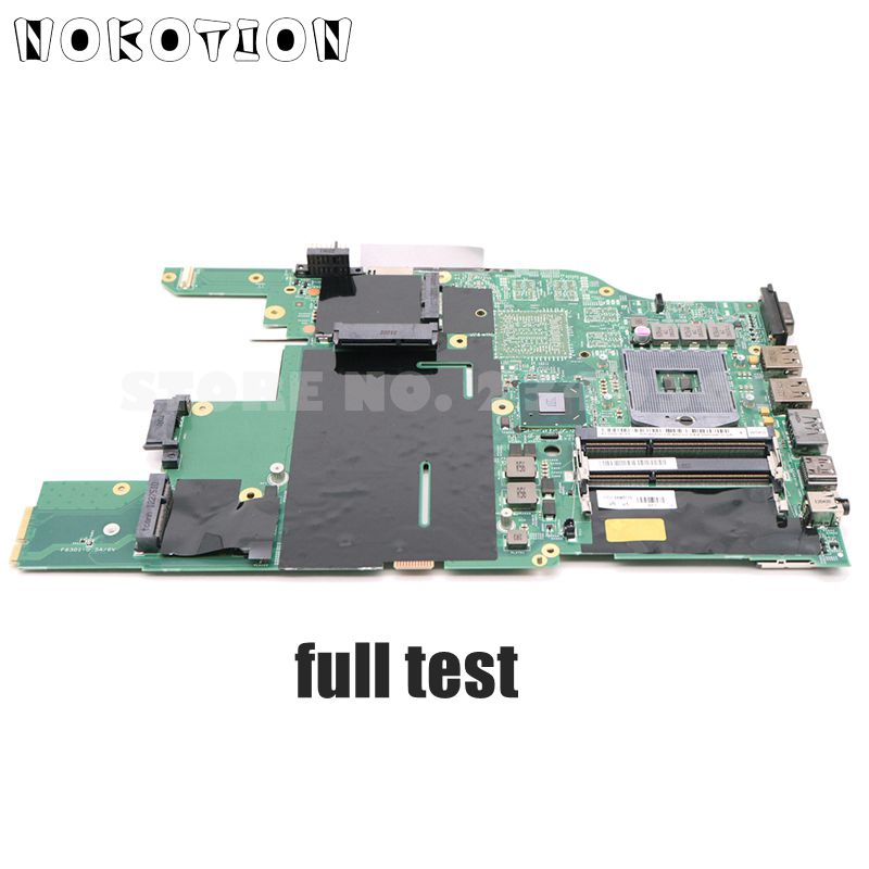 NOKOTION FRU 04W0720 Laptop Motherboard For Lenovo ThinkPad E520 Main Board HM65 UMA DDR3 100% Tested