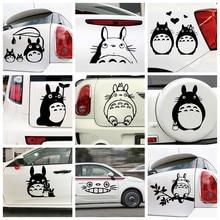 Desenhos animados personagem totoro decalque do carro engraçado janela decalques de vinil estilo do carro auto adesivo emblema adesivos de carro