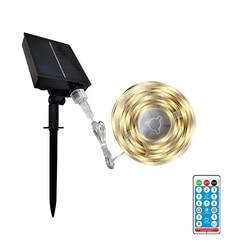 Светодиодная лента Gylbab на солнечной батарее с дистанционным управлением, 8 режимов, уличная водонепроницаемая лампа для газона, гаража, сад...