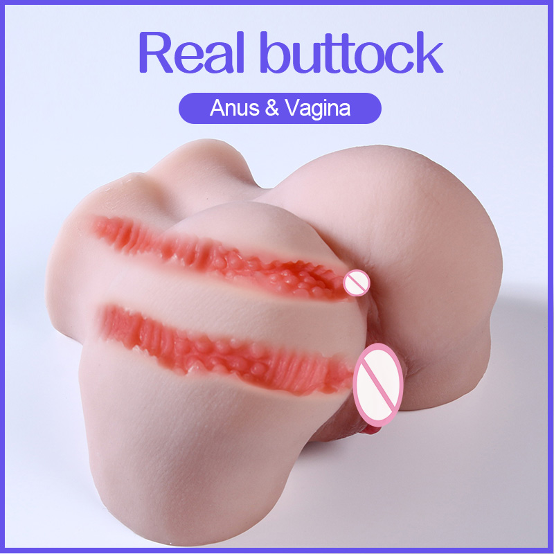 Real Ass 3D Artificial Vagina Male Masturbators Deep Throat Realistic Anal Soft Silicone Fake Pussy Erotic Adult Sex Toy for Men