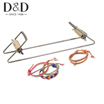 Stainless Steel Beading Loom Weaving Kit Crafts DIY Jewelry Loom for Make Necklace Bracelet Knitting Machine Educational Toys