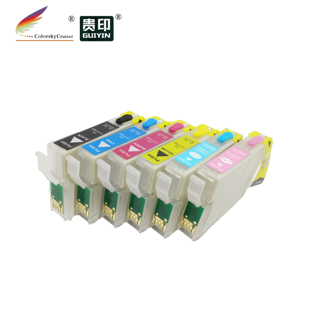RCE-IC6CL50) многоразовый картридж с чернилами для принтера Epson IC6CL50 EP-301 EP-302 EP-702A EP-801A EP-802A bk/c/m/y/lc/lm