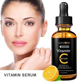 30ml Vitamin C Serum Organic Moisturizing Vitamin E Lifting Whitening Skin Anti Firming Essence Care Face Wrinkle L6D8 1