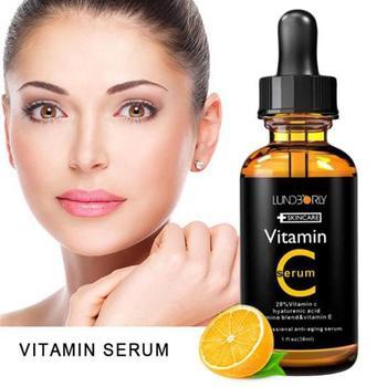 30ml Vitamin C Serum Organic Moisturizing Vitamin E Lifting Whitening Skin Anti Firming Essence Care Face Wrinkle L6D8 1