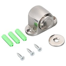Stainless Steel Door Strong Magnetic Door Stopper Suction Gate Engineering Project Supporting Hardware Door Stop anho stainless steel strong magnetic door stop stopper bathroom bedroom toilet door wall suction fitting screw hardware