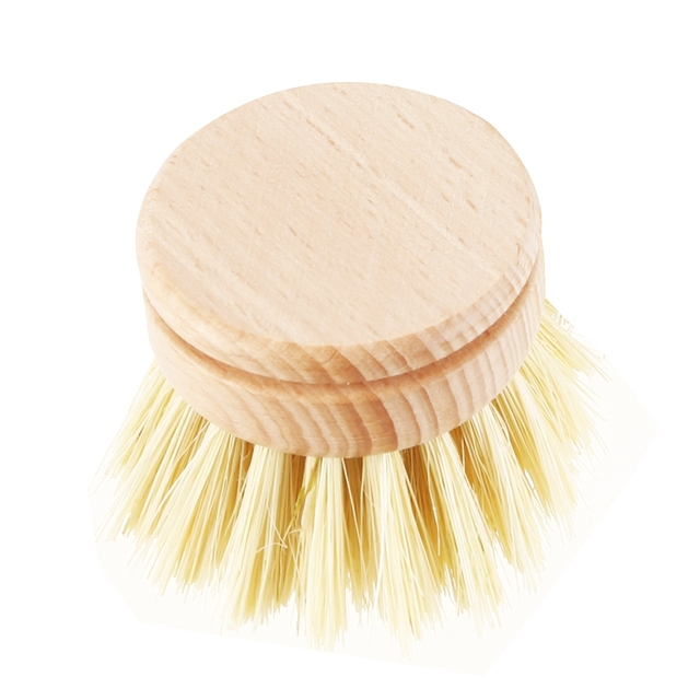 Skillet cleaning brush, replaceable head Sale! Heavy kitchen dishwashing brush retro wood pot brush Houseware cleaning brush 3
