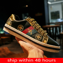 Genuine Leather 2020 Lovers Luxury Mens Sports Shoes