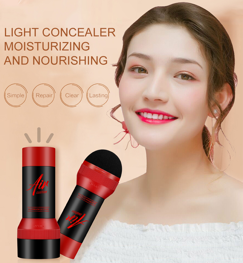 Super Hot Sale  Cosmetic Concealer Mix CC Stick Mushroom Head Air Cushion Face Base Full Cover Waterproof Concealer Makeup TSLM1