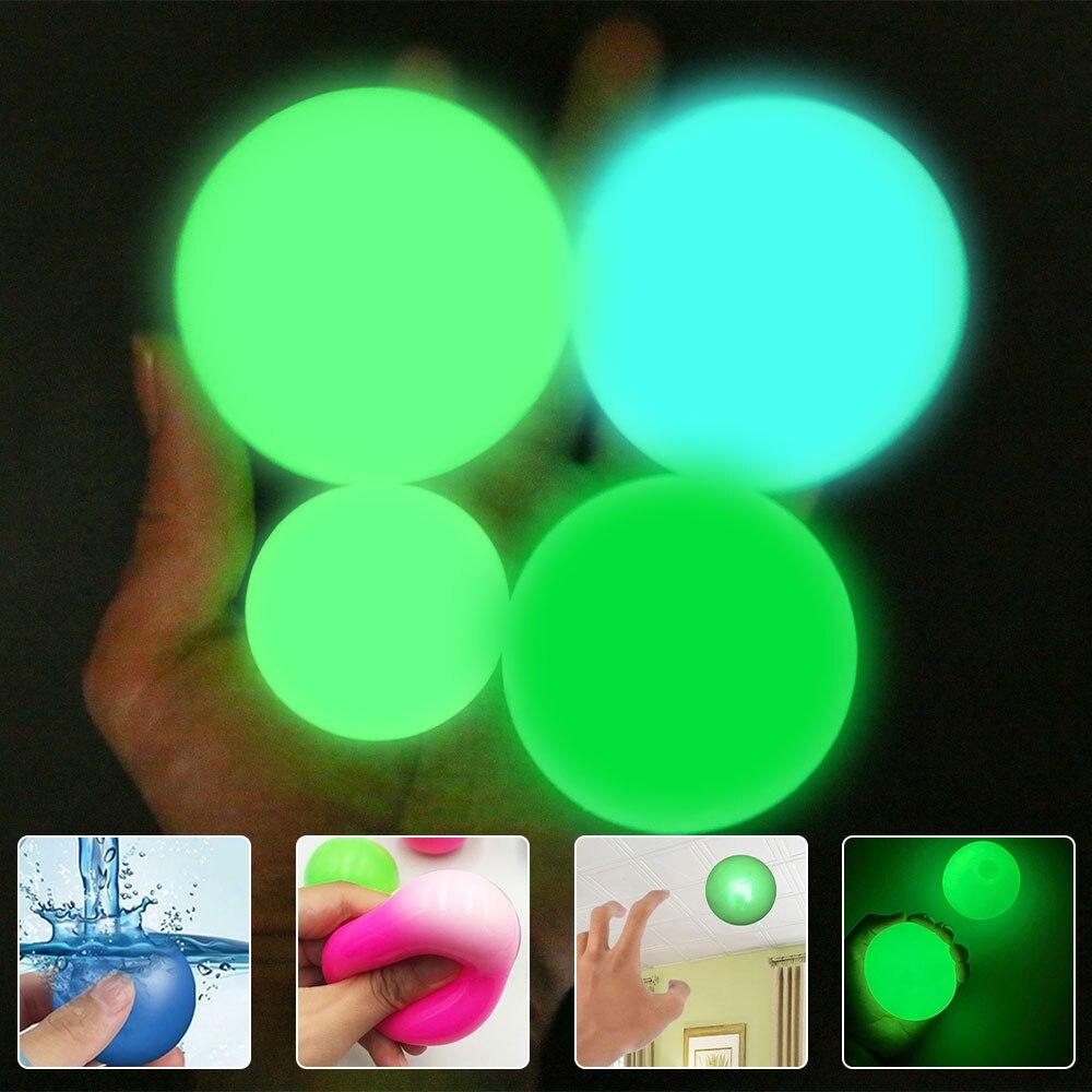 Клейкий настенный шар, потолочный шарик, клейкий шарик-мишень, игрушка для снятия стресса, новинка, игрушка для детей и взрослых, флуоресцен...