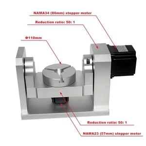 Image 1 - DIY CNC 4th 5th רוטרי ציר חלוקת ראש 50:1 הרמוני מפחית הרמוני Gearbox עבור CNC נתב CNC חרט