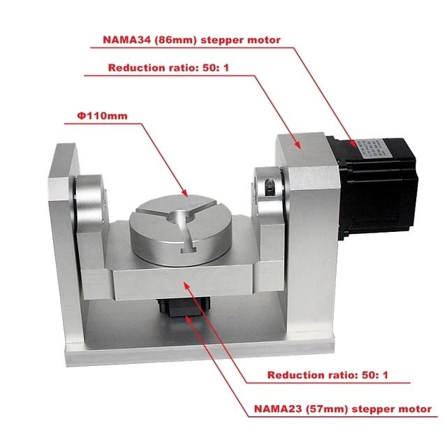 DIY CNC 4th 5th רוטרי ציר חלוקת ראש 50:1 הרמוני מפחית הרמוני Gearbox עבור CNC נתב CNC חרט