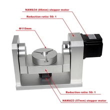DIY CNC 4th 5th Rotary Axis Dividing Head 50:1 Harmonic Reducer Harmonic Gearbox For CNC Router And CNC Engraver