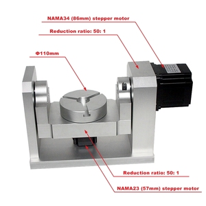 Image 1 - DIY CNC 4th 5th Rotary Axis Dividing Head 50:1 Harmonic Reducer Harmonic Gearbox For CNC Router And CNC Engraver