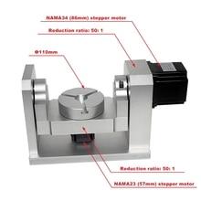 Réducteur harmonique pour routeur CNC, 4e, 5e axe rotatif, tête de division 50:1, bricolage boîte de vitesse pour routeur CNC et graveur CNC