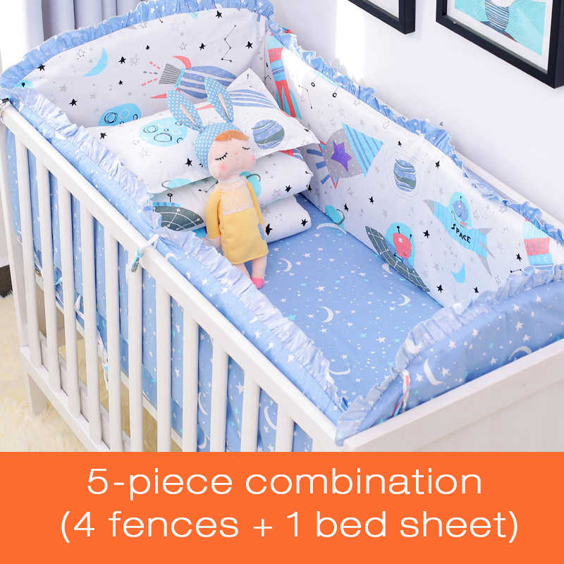 غرفة الطفل ديكور الوفير عدة الفراش المادة نقية ستارة من القطن الطفل الستار السرير المحيطة متعددة الألوان خمس قطع دعوى