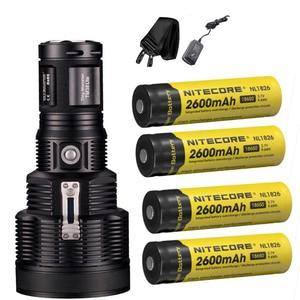 Image 3 - NITECORE TM38 Lite rechargeable flashlight CREE XHP35 HI D4 max 1800 lumen outdoor searchlight beam throw 1400 meter torch