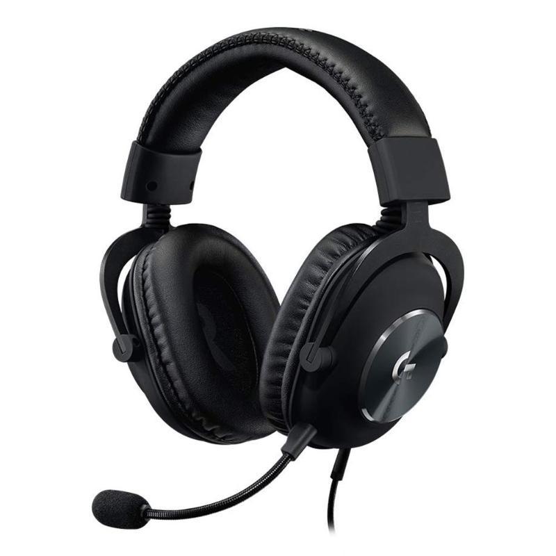 Logitech G Pro X USB casque de jeu filaire voix bleue 7.1 canaux son sur-oreille casque avec Microphone détachable noir