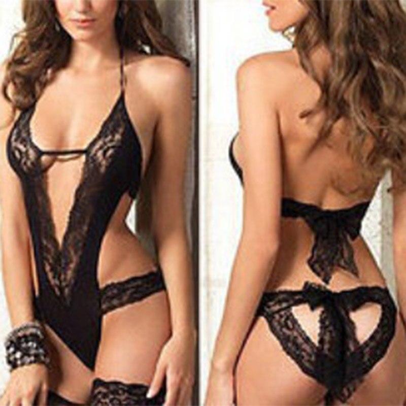 Ot Open Bra Halter Sexy Costumes Underwear Sexy Lingerie Hot Erotic Lingerie Babydoll Sleep Wear Nightdress Sexy Dress Sexy Erot