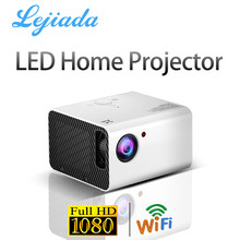 LEJIADA New T10 Projector LED 1920*1080P HD Android Keystone Correction Portable Home Theater Movie Video Player Proyector