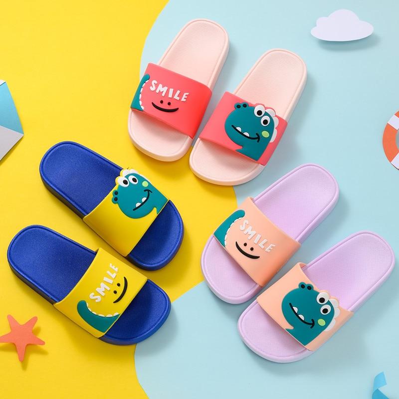 2020 Unicorn Cartoon Slippers Baby Boy Girl Children Summer Beach Water Indoor Home Shoes Children Outdoor Baby Dinosaur Sandals