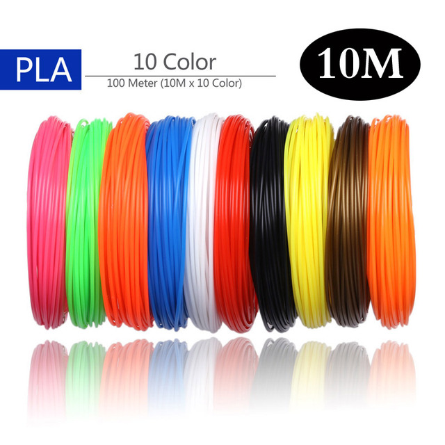 Aveiro 50/100/200 Meter 1.75mm ABS/PLA Material PLA Filament 3d Refill For 3D Pen Filament ABS Plastic 3 D Pens Supplies Color