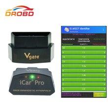 מקורי Vgate iCar פרו ELM327 אמיתי V2.2 OBD קוד קורא Bluetooth/WIFI אוטומטי שינה עבור אנדרואיד ו ios הבלילה מ ELM327 V1.5