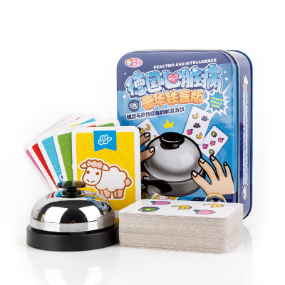 New 2 Kinds Halli Galli Board Game 2-6 Players Family Fruity Extreme Version With Metal Bell Speed Action Game
