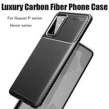 For Huawei P40 P30 P20 P10 Mate 30 20 10 Pro Lite Nova 7 6 5 4 3 SE 3i 5i Pro Luxury Carbon Fiber Cover Shockproof Phone Case(China)
